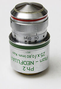 Zeiss Plan Neofluar 25x 0 80 Korr Ph2 Microscope Objective 440545 Phase Contrast