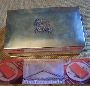Old Sheffield English Deco Era Silver Trinket Box Silver On Copper Crest