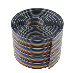 1m 3 3ft 40 Pin 40 Way Flat Color Rainbow Ribbon Idc Cable Wire Rainbow Cable