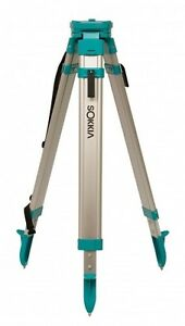 Sokkia Contractor s builder s Aluminum Flat Top Tripod Quick Clamp 724445