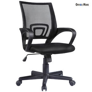Ergonomic Black Midback Mesh Office Chair Executive Swivel Computer Desk Task