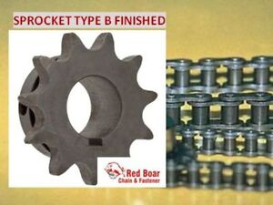 40b28h 3 4 Type B Bore Sprocket For 40 Roller Chain 28 Tooth 40bs28h