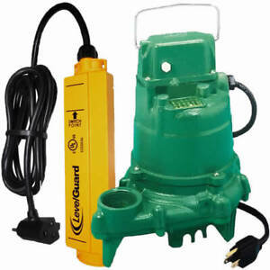 Zoeller N53 1 3 Hp Cast Iron Submersible Sump Pump W Levelguard Switch