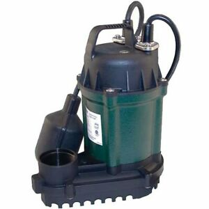 Zoeller Wm49 1 4 Hp Cast Iron Submersible Sump Pump W Tether Float Switch