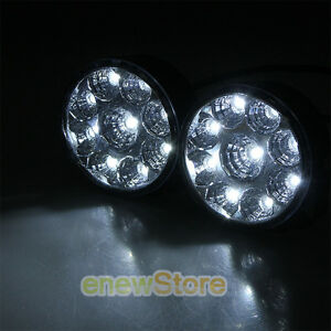 2 X 27w 9led Work Light Round Spot Beam Off Road Driving Fog Lamp Truck Atv Suv