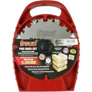 6 X 10 Tooth Professional Dado Blade Freud Sd206 New