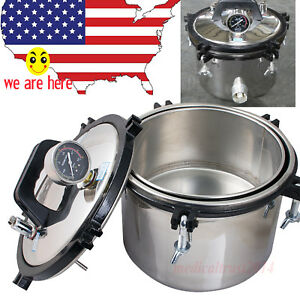 2017 8l Stainless Steam Autoclave Sterilizer Dental Medical Pressure Pot