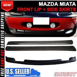 For 90 97 Mazda Miata Mx5 Gv Style Front Lip Fd Style Side Skirts
