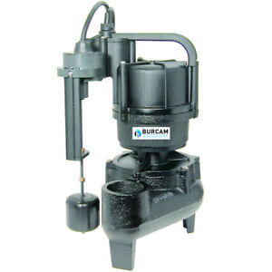 Burcam Pumps 1 2 Hp Heavy Duty Replacement Sewage Pump For Easy Flush System