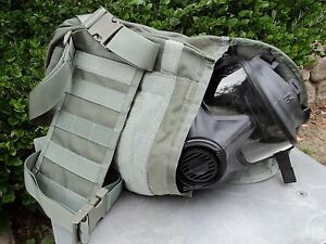 Avon Tactical Gas Mask Pouch carrier Military Issue W drop leg thigh straps