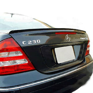 Mercedes Benz C Class W203 Rear Euro Trunk Boot Spoiler Lip Wing Sport Trim Amg