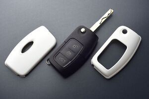 Ford Car Remote Flip Key Cover Case Skin Shell Cap Fob Protection Abs White 05
