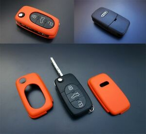 Early Audi Remote Flip Key Cover Case Skin Shell Cap Fob Protection S Line Orang