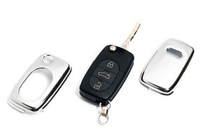 Early Audi Chrome Remote Flip Key Cover Case Skin Shell Cap Fob Protection Sline