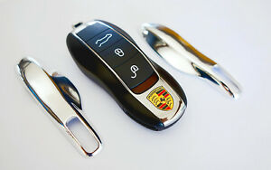 Chrome Porsche Remote Key Cover Case Shell Cap Fob Protection Hull Trim 911