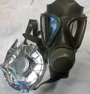 German M65 Drager Military Gas Mask Respirator Unissued W Nbc Filter Exp 2022