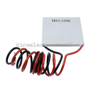 10pcs Tec1 12708 Heatsink Thermoelectric Cooler Cooling Peltier