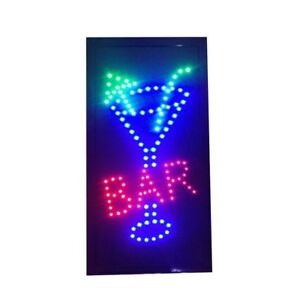 Bar Pub Sign Neon Lights Led Animated Customers Attractive Sign Vertical 110v