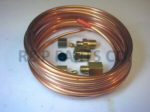 Vacuum Mechanical Gauge Copper Tubing Line Kit 1 8 Od X 12 Foot