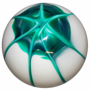 Splash White Green Shift Knob 3 8 24 Thread U s Made