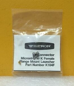 Wiltron K104f 2 92mm Dc To 40 Ghz Type K Microstrip To Flange Connector New