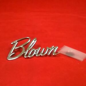Universal Metal Chromed Trim Emblem Script Blown Logo Street Hot Rat Rod Decal