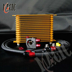 15 Row 10an Engine Oil Cooler 3 4 16 M20 1 5 Thermostat Sandwich Plate Kit