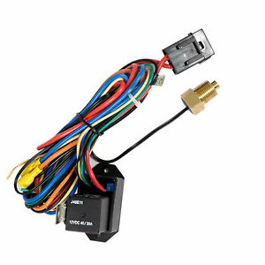 New Adjustable Electric Fan Controller Kit Thread In Probe With Relay Kit