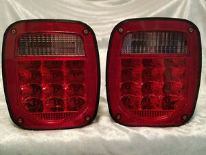 76 06 Wrangler Cj Yj Tj Led Tail Lights Jeep Trailer Rubicon Off Road 4x4 L e d