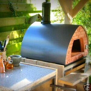 Pizzaparty Wood Fired Oven Grey supportwithwheels glassdoor 2pizzapeelspacesave