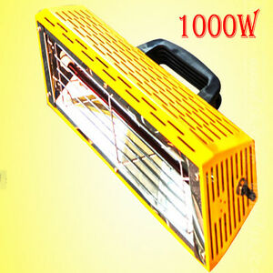 1000wportable Spray Baking Booth Infrared Paint Curing Lamp Heating Light Heater