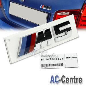 M5 Oem Genuine Trunk Rear Boot Letter Emblem Badge For Bmw Car Use M Power