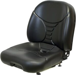 Black Vinyl Seat For Ag Lawn Or Construction Mounting 11 25 x 11