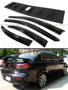 For 08 16 Mitsubishi Lancer Shark Fin Vortex Generator Spoiler Jdm Window Visor
