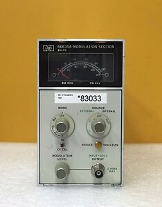Hp 86635a 600 Ohm Input Impedance Am fm Functions Modulation Section Plug in