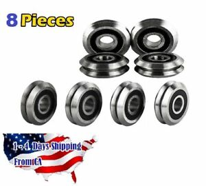 Rm2 2rs 3 8 V Groove Roller Bearing Rubber Sealed Line Track 8pcs