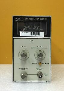Hp 86634a 50 Ohm Input Impedance Modulation Section Plug in For 8660 Series