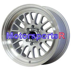 Xxr 531 15x8 Silver Wheels Rims Deep Lip Stance 4x100 95 96 02 Honda Civic Si Ex