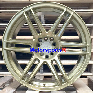 Xxr 558 Wheels 18 19 Gold Concave Rims Staggered 5x4 5 99 04 Ford Mustang Cobra