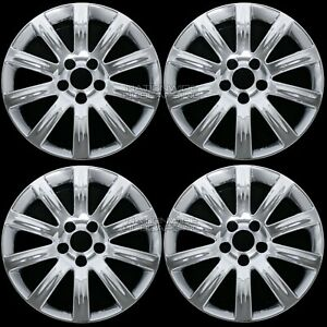 4 For Chrysler 200 2011 2014 Chrome 17 Wheel Skins Hub Caps Covers Aluminum Rim