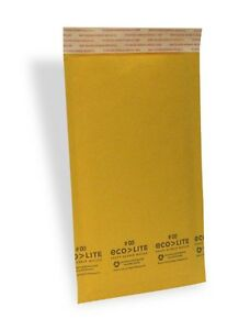 250 00 5x10 X wide Ecolite Usa Kraft Bubble Mailers Envelopes From Nyc