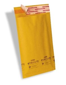 500 000 4x8 X wide Ecolite Usa Kraft Bubble Mailers Envelopes Theboxery