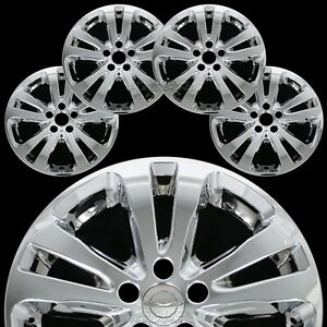 4 Chrome 2015 16 2017 Chrysler 200 17 Wheel Skins Full Rim Covers Hub Caps New