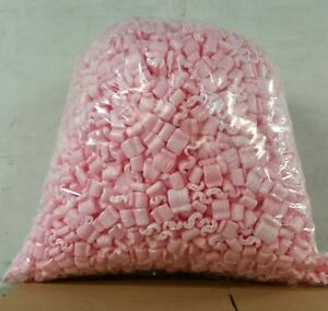 Packing Peanuts Loose Fill 60 Gallons 8 Cubic Ft Anti static Pink