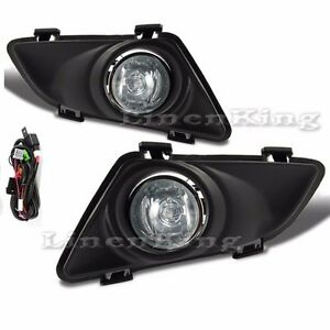 Fog Lights Clear Lens Bumper Lamps Kit W Switch Bulb Fl7069 For 03 05 Mazda 6