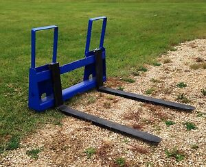 Pallet Forks W quick Attach Plate For Skid Steer Loaders