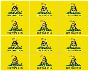 Gadsden Flag Sticker 12 Pack 2 Don T Tread On Me Usa Decal Stickers