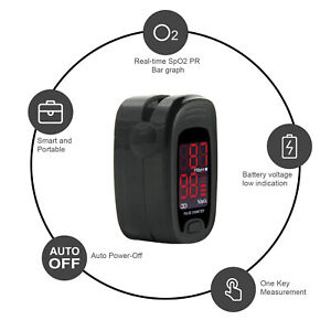 Fingertip Pulse Oximeter Finger Blood Oxygen Spo2 Pr Heart Rate Monitor usb Line