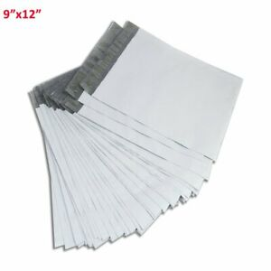 100 9x12 Mailing Bags Envelopes White Plastic Poly Mailers Self Sealing 2 5 Mil