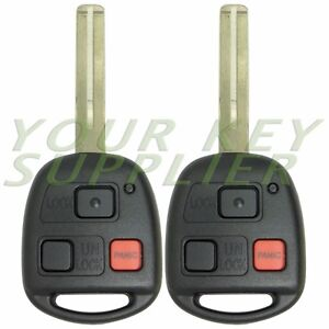 2 New Replacement Keyless Entry Remote Key For Gx470 Lx470 Hyq1512v Short Blade
